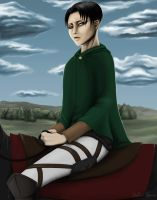 Levi on Horse by DarkMuse112
