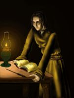 Snape in Chiaroscuro by greeneyes-17