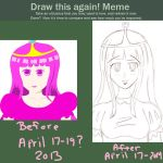Meme || Before and After || Princess Bubblegum by Kiyomi--Hime