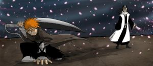 Bleach - Ichigo VS Byakuya by ebbewaxin
