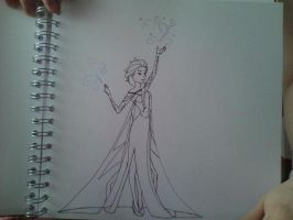 Frozen Elsa by FrozenNightingales