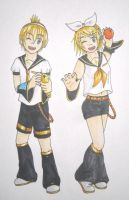 Vocaloid Kagamine Twins by MangaX3me