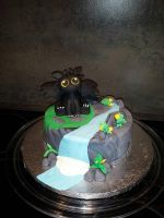 Baby Toothless Cake by ScreenTech