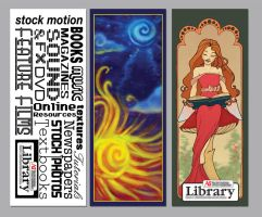 Library Bookmarks by chronicdoodler