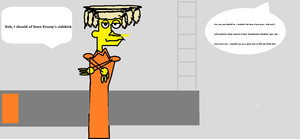 Drawing of brother of Sideshow Bob by FurryFilmaker