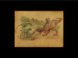 2007 watercolour effect dinos by Tallonis