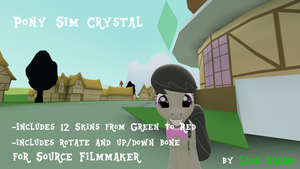 [DL] Pony Sim Crystal [SFM] by LimeDreaming