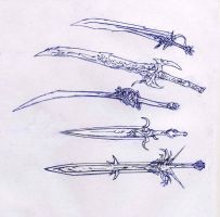 Weaponry sketches 90 - swords by Random223