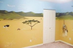 African theme mural for nursery 4 by SYoshiko
