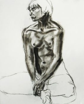 Sitting Figure by Kikera