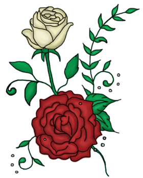 Twin Roses Tattoo Design by A-Not-E