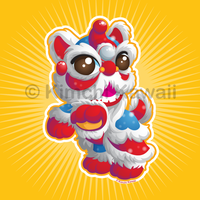Lion Dancer Kawaii Style by kimchikawaii