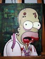 Zombie Homer Simpson by dianesart