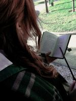 Reading and practicing by Thara-Wood