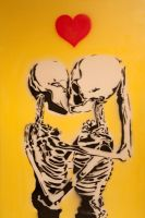 Skeleton love stencil by catman103
