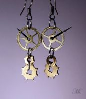 Steampunk earrings 14 by TheCraftsman
