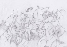 Wolf Pack-1 by Nakusia