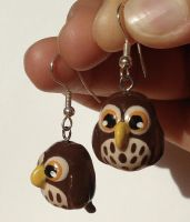 2nd Pair of Owl Earrings by Sturmdaemonin