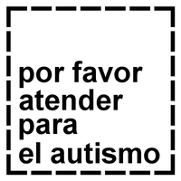 Spanish Please Cater For Autism stamp by dev-catscratch