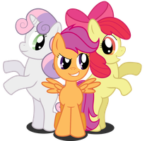 Cutie Mark Crusaders Colour by Kalas17