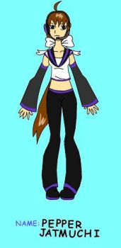Pepper as a vocaloid by Xwaterbender-of-funX