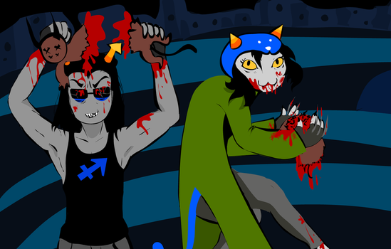 Nepeta and Equius Get Busy by Sano-Adono