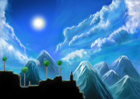 Terraria HD by HenceTheCosmosDreams