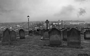 Whitby From The Cemetery by Estruda