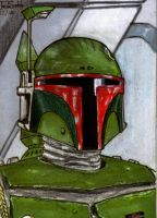 Boba Fett Sketch card by lupesoto