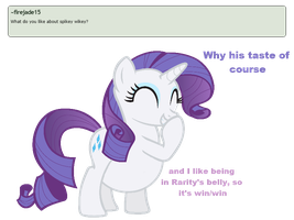 Ask Rarity question #4 by RarityVore