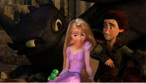 Sitting down with toothless and Hiccup by insyirah321