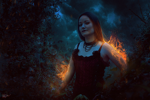 Fire witch III by Gejda
