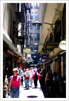 A Busy Flinders Lane by decryption