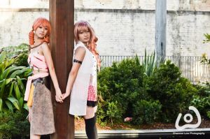 Vanille and Serah - Final Fantasy XIII by danniTee