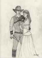 The Gunfighter and The Rancher by 4bluetiger