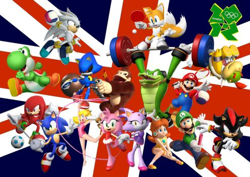 Mario and Sonic London 2012 V3 by Griddler6
