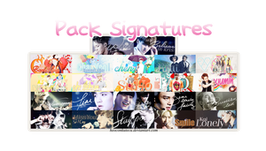 Pack Signatures EXO by Heoconkutecu