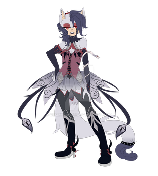 Gothic Fox Adopt Paypal/Points Cheap - CLOSED by Gemzybabee