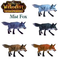 WoW Cataclysm Mist Fox Cut out by atagene