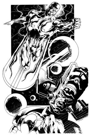 Silver Surfer_Galactus by marcelomueller