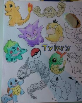 Tyler's Pokemon WIP - Colour by snoopysoap