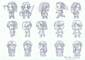 Legend of Zelda - Chibi Version by ShinigamiRyuku