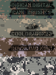 Digicamo Pixels Brushes by Cooldragon23