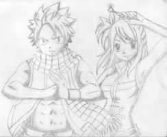 Fairy Tail Natsu and Lucy by AmzzCullen