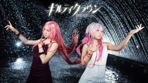 Guilty Crown - Inori and Mana by Ika-xin