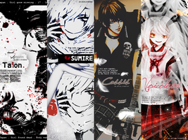 GazettE Inspired Pack 4 by Mio-Alice Lee/Yukkun by AliceTribe