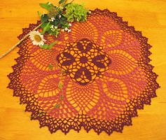 20 Inch Pineapple Delight Doily by doilydeas