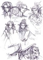 Warcraft - Young twins sketch by Blade-Fury