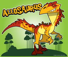 Allosaurus by spiers84