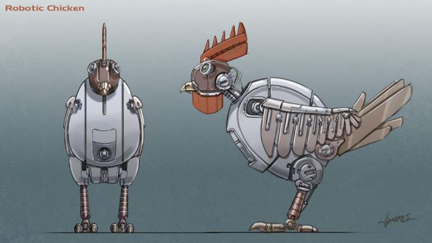 Robotic Chicken by mysterian